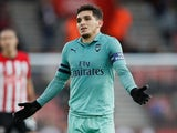 Lucas Torreira shrugs during the Premier League game between Southampton and Arsenal on December 16, 2018