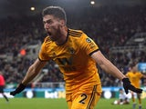 Matt Doherty celebrates scoring his late winner for Wolverhampton Wanderers on December 9, 2018
