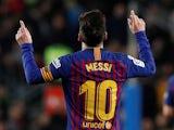 Barcelona's Lionel Messi celebrates scoring against Celta Vigo on December 22, 2018.