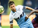 Francesco Acerbi in action for Lazio on August 4, 2018