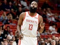 James Harden in action for Houston Rockets on December 20, 2018
