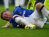 Everton's James McCarthy goes down injured in January 2018