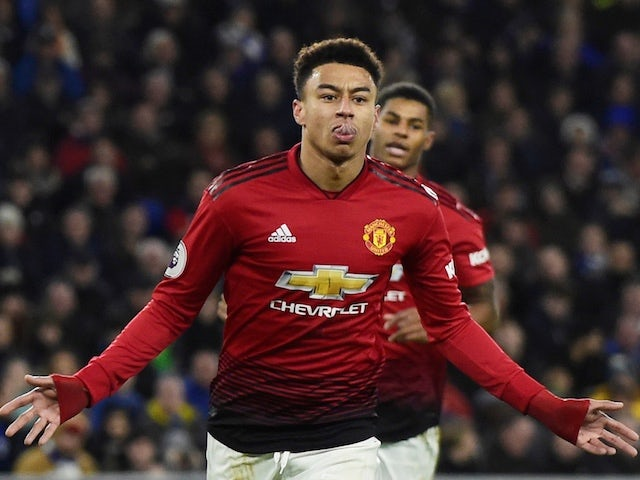 Manchester United midfielder Jesse Lingard celebrates scoring against Cardiff City on December 22, 2018