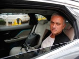 Ex-Manchester United manager Jose Mourinho leaves The Lowry hotel on December 18, 2018