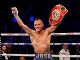 Josh Warrington celebrates victory on December 22, 2018