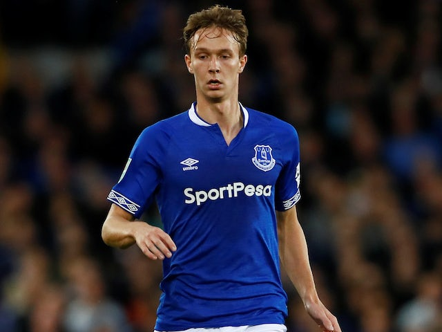 Kieran Dowell in action for Everton in the EFL Cup on August 29, 2018