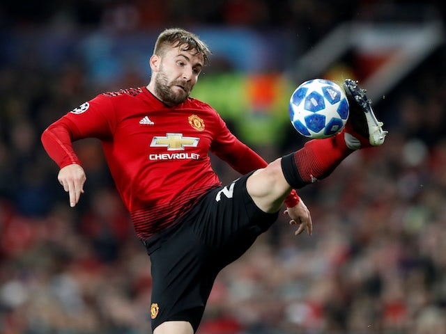 Luke Shaw in action for Manchester United on November 22, 2018