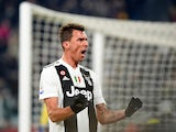 Mario Mandzukic celebrates scoring for Juventus on December 22, 2018
