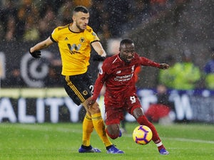Naby Keita evades a challenge during Liverpool's Premier League clash with Wolverhampton Wanderers on December 21, 2018