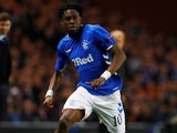 Ovie Ejaria in action for Rangers in the Europa League on October 4, 2018