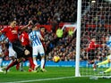 Nemanja Matic puts Manchester United ahead in their Premier League meeting with Huddersfield Town on December 26, 2018