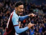 Dwight McNeil celebrates scoring for Burnley on December 30, 2018