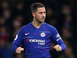 Chelsea's Eden Hazard celebrates scoring against Watford in the Premier League on December 26, 2018.