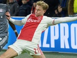 Frenkie de Jong in action for Ajax in the Champions League on December 12, 2018