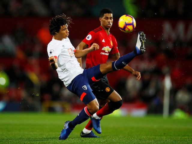 Manchester United's Marcus Rashford in action with Bournemouth's Nathan Ake on December 30, 2018.