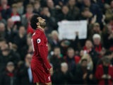 Liverpool attacker Mohamed Salah celebrates scoring against Newcastle United on December 26, 2018