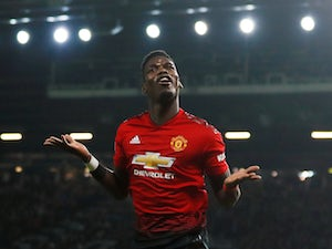 Paul Pogba celebrates scoring for Manchester United against Bournemouth on December 30, 2018.