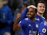 Leicester City's Ricardo Pereira celebrates scoring against Manchester City in the Premier League on December 26, 2018.