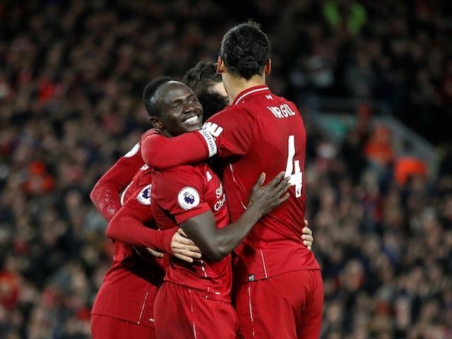 Liverpool forward Sadio Mane celebrates after scoring against Arsenal on December 29, 2018