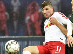 Timo Werner in action for RB Leipzig on December 2, 2018