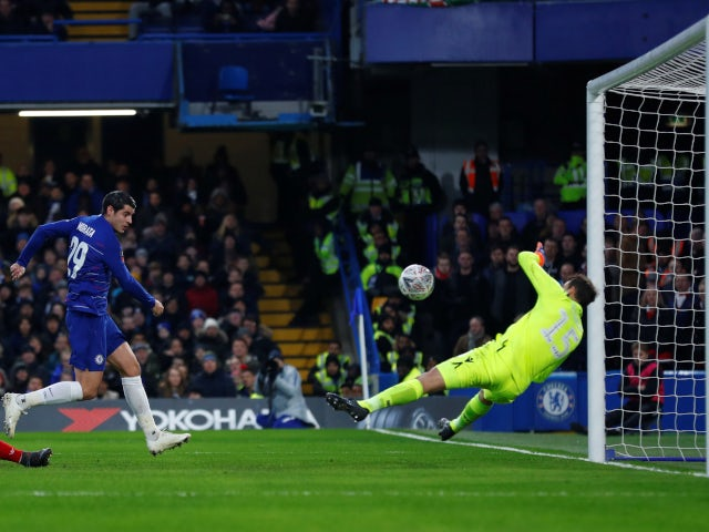 Chelsea striker Alvaro Morata wastes a good chance in the FA Cup tie against Nottingham Forest on January 5, 2019