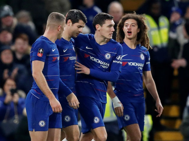 Alvaro Morata celebrates scoring during the FA Cup third-round game between Chelsea and Nottingham Forest on January 5, 2019