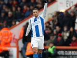 Anthony Knockaert celebrates scoring for Brighton on January 5, 2019