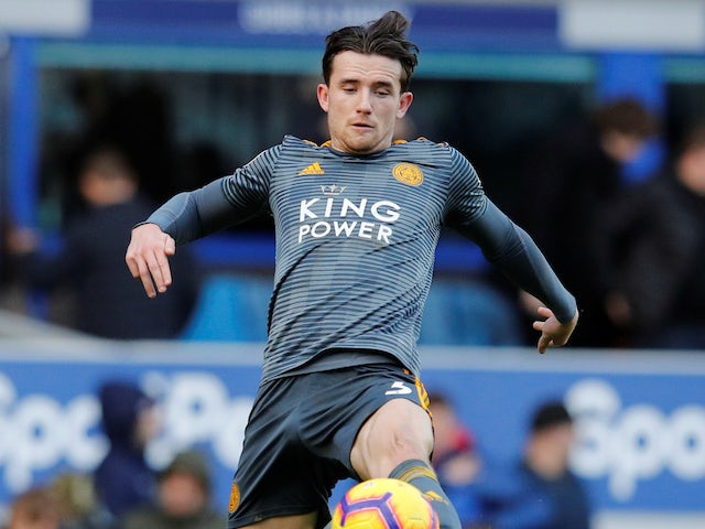 Ben Chilwell in action during the Premier League game between Everton and Leicester City on January 1, 2019