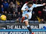Bradley Dack scores for Blackburn Rovers against West Brom on January 1, 2019