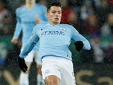 Brahim Diaz in action for Manchester City in the EFL Cup on December 18, 2018