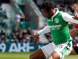 Efe Ambrose in action for Hibs in April 2018