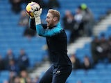 Jason Steele warms up for Brighton on December 29, 2018