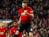 Juan Mata celebrates scoring from the spot during the FA Cup third-round game between Manchester United and Reading on January 5, 2019