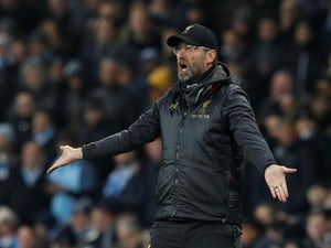Jurgen Klopp reacts during the Premier League game between Manchester City and Liverpool on January 3, 2019