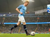 Kevin De Bruyne in general action during the FA Cup third-round game between Manchester City and Rotherham United on January 6, 2019