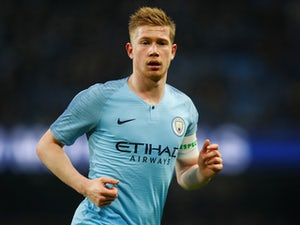Kevin De Bruyne in action during the FA Cup third-round game between Manchester City and Rotherham United on January 6, 2019