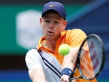 Kyle Edmund in action on October 12, 2018