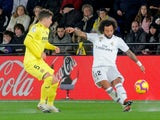 Real Madrid defender Marcelo in action with Villarreal midfielder Santiago Caseres on January 3, 2019.