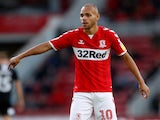 Martin Braithwaite in action for Middlesbrough on August 24, 2018