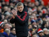 Ole Gunnar Solskjaer applauds during the FA Cup third-round game between Manchester United and Reading on January 5, 2019