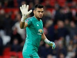 Sergio Romero in action during the FA Cup third-round game between Manchester United and Reading on January 5, 2019