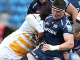 Tom Curry in action for Sale Sharks on September 22, 2018