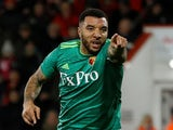 Troy Deeney celebrates scoring for Watford on January 2, 2019