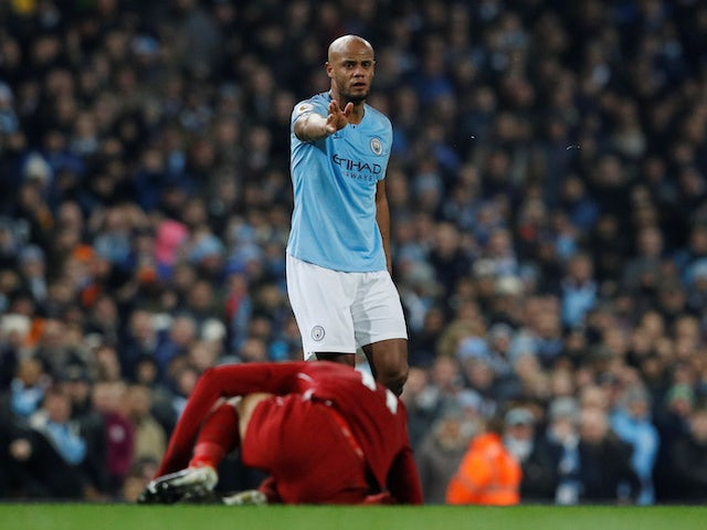 Vincent Kompany thought his tackle on Mohamed Salah was a 'great challenge'