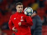 Liverpool's Xherdan Shaqiri during the warm up before the match in November 2019