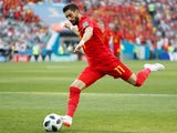 Yannick Carrasco playing for Belgium at the 2018 World Cup