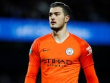 Arijanet Muric in action during the EFL Cup semi-final game between Manchester City and Burton Albion on January 9, 2019