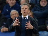 Claude Puel in charge of Leicester City on January 12, 2019