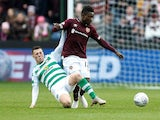 Danny Amankwaa pictured for Hearts in October 2018