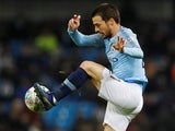 David Silva in action during the EFL Cup semi-final game between Manchester City and Burton Albion on January 9, 2019